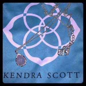 Kendra Scott necklace yellow gold pink stone